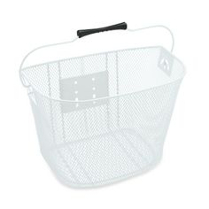 QUICK RELEASE WIRE FRONT BASKET (White) Electrabike Online Store | Bike Parts and Accessories