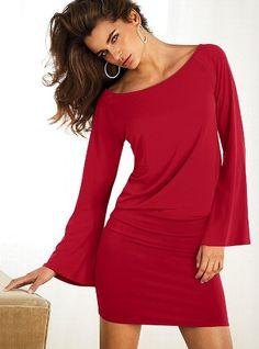 Drop-waist Dress - Victoria's Secret ~ Not sure if I like it better in red or black : )