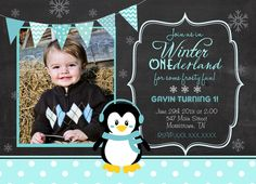 Chalk Winter Onederland 1st Birthday by MakinMemoriesOnPaper, $12.00