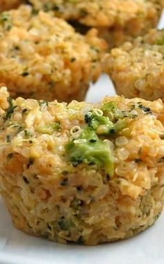 Clean Eating: Broccoli Cheddar Quinoa Bites--can sub jalapenos for some spice