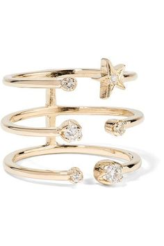 ANDREA FOHRMAN Stackable Diamond Rings, Gold Diamond Rings, Diamond Bands, Diamond Jewelry, Gold Jewelry, Gold Rings, Jewelry Rings, Fine Jewelry, Latest Ring Designs