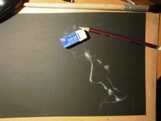 Keep looking at it till you see it... whoa. Scratchboard idea.