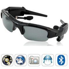 Caméra cachée couleur avec DVR dans une lunette 1.3 mégapixel - MP3 - Bluetooth - Radio FM - 8 Go interne