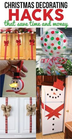 Christmas decorations are so pretty ad so much fun, but you could spend a lot of money buying new ones very year. If you want to change up your decorations a little bit this year without spending a lot of money, look at these Christmas decorating hacks. They are so easy to do and will save time and money. Easy DIY and craft ideas with pictures and supplies included! #diy #christmas #homemade #holiday #gift #homedecor #smartschoolhouse