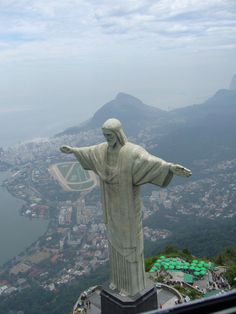 Christ the Redeemer, is a statue of Jesus Christ in Rio de Janeiro, Brazil. Places Around The World, Oh The Places You'll Go, Travel Around The World, Places To Travel, Places To Visit, Around The Worlds, Travel Destinations, Cristo Corcovado, Wonderful Places