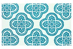 """One Kings Lane - Go Bold - 7'6""""x9'6"""" Ella Rug, Teal/Ivory What a great rug to lay under your Origami Owl home office! Www.OwlHeavenly.OrigamiOwl.com"""