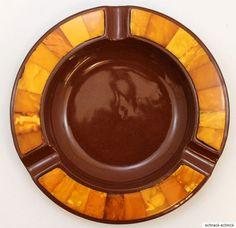 Cadinen Keramik Aschenbecher mit Bernstein Amber 伯恩斯坦 butterscotch Wilhelm II in Uhren & Schmuck, Edelsteine, Farbsteine | eBay