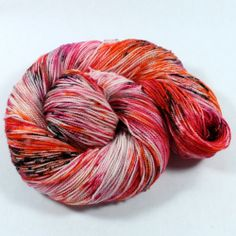 Hand Dyed Sock Yarn - Lux Sock - Superwash Merino Cashmere Nylon - 400 yards - Fluff