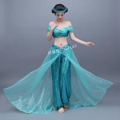 Womens adults ladies jasmine costume cartoon character cosplay princess light blue Princess Jasmine cosplay Aladdin cosplay. Yesterday's price: US $106.00 (94.56 EUR). Today's price (December 10, 2018): US $100.70 (89.36 EUR). Discount: 5%. #Costumes #Accessories #womens #adults