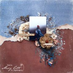 Mary's Crafty Moments: ''Learning to Fly'' - DT Layout for Maja Design Oc...