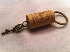 Wine Cork Keychain Key by Kreativactivity on Etsy, $4.00