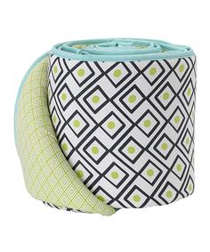 Look at this Lolli Living Charcoal Triangle Crib Bumper on #zulily today!