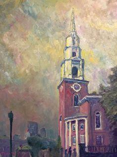 Steady Red- Original Oil on Canvas - Ryan J Flynn Masonic Artist