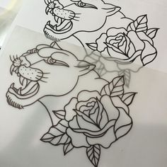 awesome Top 100 panther tattoo | Departure For @mountain_tattoo_primiero #feltre #panther #blackpanther #rose #head #traditional #traditionalink #tattoo #tat #flash #available #drawing #drawingmorning #morning #tattooday #tattootime @honkymonkeytattoo #tattooheart #panthertattoo Check more at http://4develop.com.ua/top-100/