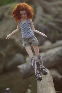 Eric above water (by Nyo Dényo) Pretty Dolls, Cute Dolls, Ooak Dolls, Blythe Dolls, Redhead Art, Human Sculpture, Lifelike Dolls, Clothing Photography, Doll Hair