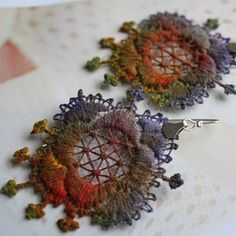 Vintage Lace Earrings  Boucles d'oreilles ♥