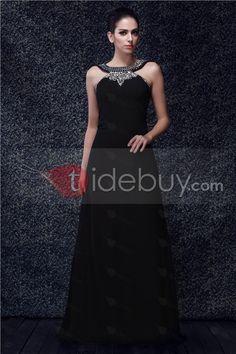 Missy - Vestido de Prom Silueta Columna Tipo Halter Largo al Piso s Anderai's  (Envío Gratuito )