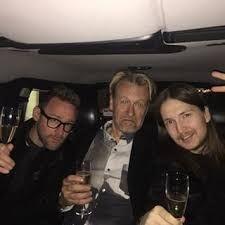 Shellback and Jocke Berg in a car Drinking Champagne