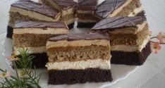 Useful articles and recipes: Charming Angelika slice Eta style Hungarian Desserts, Hungarian Cake, Hungarian Recipes, My Recipes, Cookie Recipes, Romanian Food, Cake Bars, Winter Food, Cake Cookies