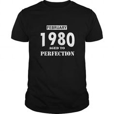 02 February 1980 February Born Birthday Aged to Perfection T Shirt Hoodie Shirt VNeck Shirt Sweat Shirt Youth Tee for womens and Men #February