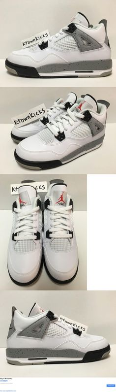 39a74c50b61b Children boys clothing shoes and accessories  Nike Air Jordan 4 Retro Og Bg  White Cement Grey 836016 192 Youth 6.5Y Womens 8 BUY IT NOW ONLY   149.95  ...