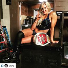 Charlotte Flair (Divas Champion)...At the next WWE PPV... Extreme Rules, May,2016) her father Rick Flair is banned from the ring !