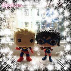Funko Friday is all about #captainmarvel and #msmarvel  More info on depepi.com (link in profile) #funko #funkopop #funkofunatic #funkopops #marvel #comics #kawaii #cute
