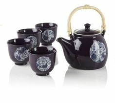 Kaleidoscope Teapot Set. WANT.