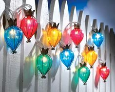 Teardrop Christmas Lights   Teardrop Outdoor String Lights from Collections Etc.