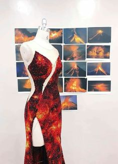 Miss Universe 2018 Catriona Gray evening gown inspired by Albay's iconic Mayon Volcano designed by Mak Tumang. Miss Universe Gowns, Fire Costume, Moda Peru, Debut Gowns, Grey Gown, Grey Fashion, Fashion Design, Cool Outfits, Fashion Outfits