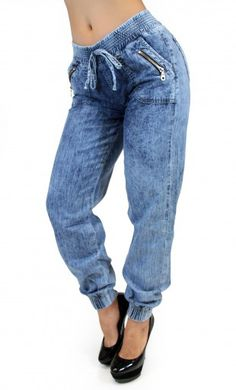Zippered Maripily Denim Jogger #MaripilyJeans #JeanoftheDay #JoggerPants