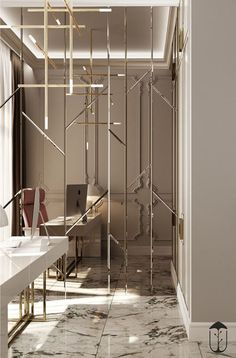 - Picture gallery Wall-to-wall mirrors When put on large areas, the price of these Foyer Design, Wall Design, House Design, Wall Mirror Design, Wall Mirror Ideas, Interior Exterior, Home Interior Design, Interior Decorating, Interior Design With Mirrors