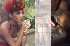 Bangles + statement gemstone ring + citrusy lipstick = 'Americana Classic' by Sean Armenta for Bello Magazine.