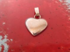 Summer Sale Sterling Silver Heart Charm Pendant Great by PGSCoins
