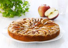 Havens' frukter tarte med epler Marzipan Recipe, Danish Dessert, Almond Paste, No Bake Desserts, Cake Cookies, How To Make Cake, Summer Recipes, Bagel, Cake Recipes