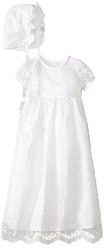 Jayne Copeland Baby Girls Lace Dress with Satin Trim White 12 Month *** You can get additional details at the image link. (This is an affiliate link) #BabyGirlDresses