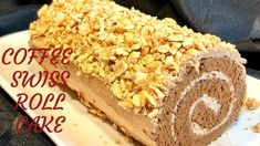 YouTube No Cook Desserts, Health Desserts, Italian Desserts, Health Foods, Chocolate Chip Recipes, Mint Chocolate Chips, Swiss Roll Cakes, Yule Log Cake, Coffee Buttercream