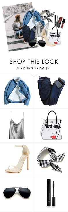 """""""sexyjeans"""" by bedwinargd on Polyvore featuring Acne Studios, Moschino, Stuart Weitzman, Forever 21, Smashbox, outfit, hangout and greatlooks"""