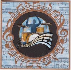 ADD10134 Amy Design Sounds of Music Die - Music Circle | Crafts U Love