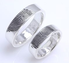 Custom fingerprint wedding bands from Fabuluster Fingerprint