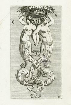 Jean Le Pautre Engravings 1751 ORNAMENT AKANTOWY, francja ludwika XIV.