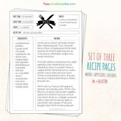 online recipe card maker beautify and unify printables vintage