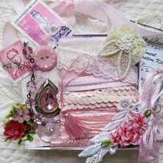 Light Pink Embellishment Inspiration Kit ... Gift by GypsyFeather