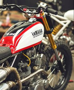 "dropmoto: ""Full frontal – Yamaha Virago 500 courtesy of Argentina's "" Yamaha Virago, Motos Yamaha, Dominator Scrambler, Yamaha Motorcycles, Ducati, Cb550, Tracker Motorcycle, Scrambler Motorcycle, Cafe Racer Motorcycle"