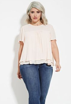 Plus Size Layered Hem Blouse | Forever 21 PLUS - 2000181109