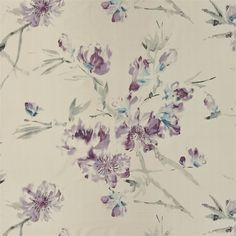 oriental flower - thistle fabric | Designers Guild