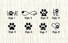 Love paw animal car decal dog love paw word decal paw infinity decal rescue decal adopt decal paw love decal gifts for animal lovers Mini Tattoos, Cute Tattoos, Small Tattoos, Paw Print Tattoos, Cat Paw Tattoos, Dog Pawprint Tattoo, Animal Lover Tattoo, Animal Tattoos, Tattoo Chat