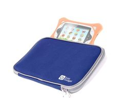 DURAGADGET Blue Waterproof Neoprene Padded Pouch With Front Storage Compartment For Binatone Appstar by Binatone 7 Inch Tablet, Touch Screen Pad Childrens Learning Tablet Computer Laptop For TODDLER CHILD Kids Toy Blue & Playtech Logic My First Ipad (18m+) - Kids Educational Interactive Alphabet Letters Numbers Play Learning Tablet Computer Game - Pink, Blue, White, Yellow - [gallery] Introducing DURAGADGET's new water-resistant neoprene tablet carry-case finished in midn