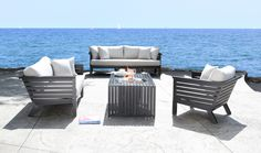 Shop patio furniture at CABANACOAST ®; your solution for the best selection of luxury patio furniture & modern outdoor furniture. Cast Aluminum Patio Furniture, Patio Furniture Sets, Vintage Furniture, Furniture Sale, Cozy Patio, Outdoor Living, Outdoor Decor, Patio Design, House