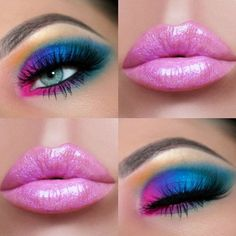 Makeup Trends That Will Blow You Away Blue Eyeshadow With Pink Makeup Idea ★ Simple and creative makeup ideas for gorgeous looks. Bring your blue eyeshadow and pink lipstick game to a new level. Eyeshadow Tips, Purple Eyeshadow, Glitter Eyeshadow, Eyeshadow Looks, Eyeshadow Makeup, Eyeliner, Halloween Eyeshadow, Summer Eyeshadow, Smoky Eyeshadow